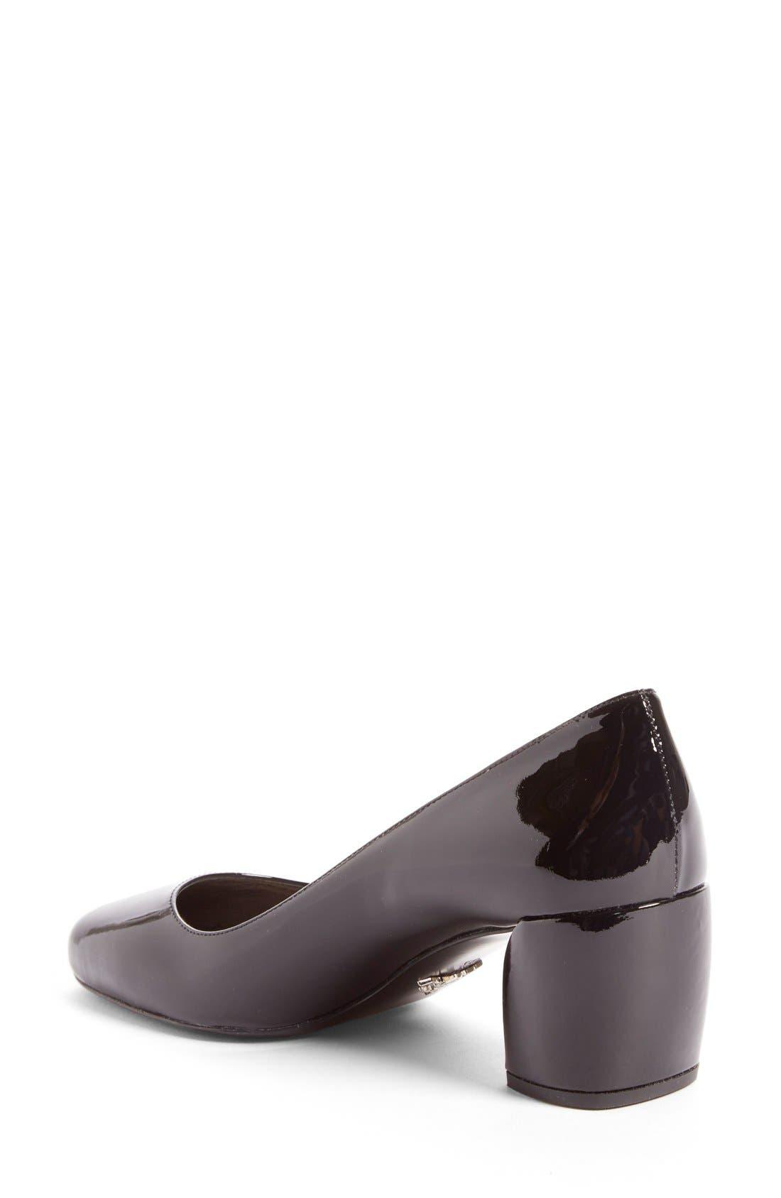 Alternate Image 2  - Prada Block Heel Pump (Women)