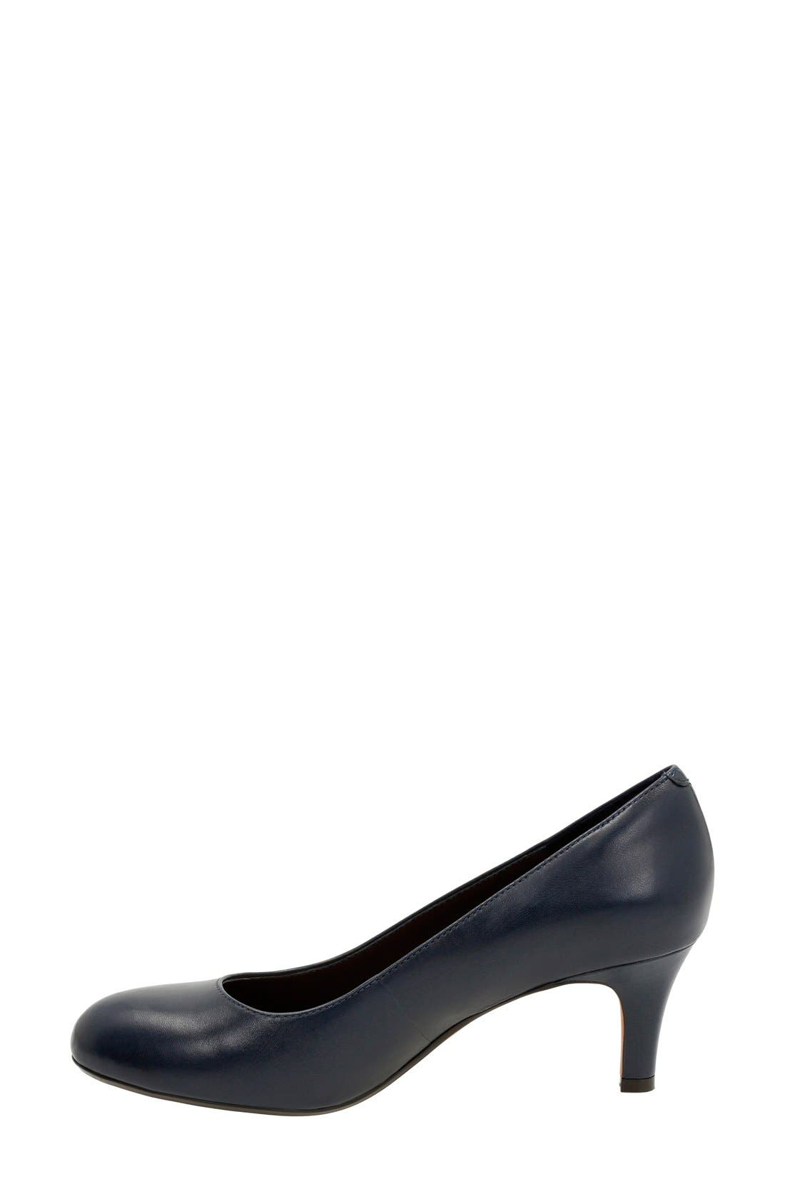 'Heavenly Heart' Pump,                             Alternate thumbnail 2, color,                             Navy Leather