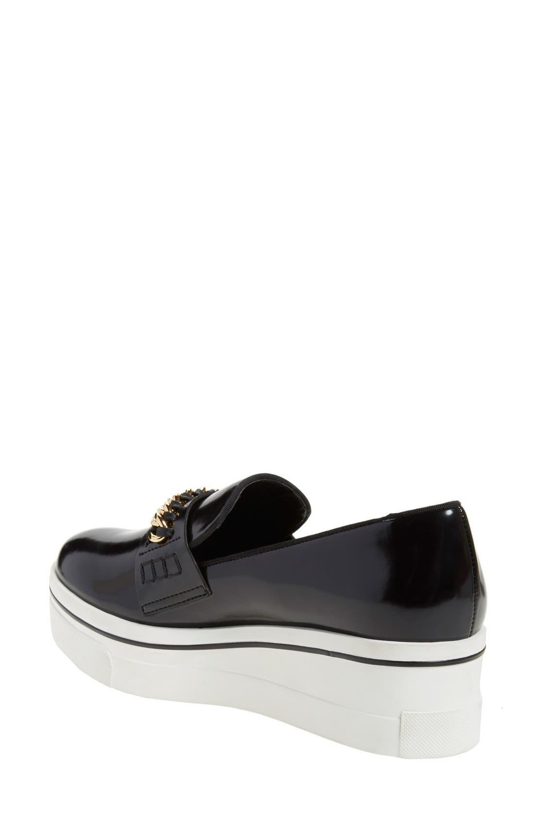 'Binx' Slip-On Platform Sneaker,                             Alternate thumbnail 2, color,                             Black