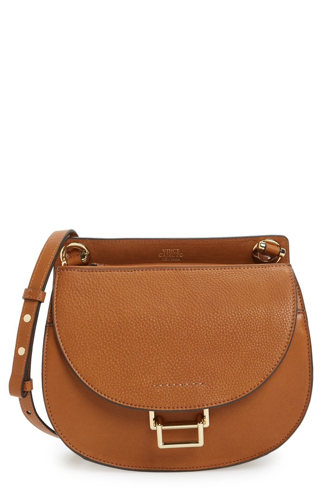 Alternate Image 1 Selected - Vince Camuto 'Livia' Leather Crossbody Bag