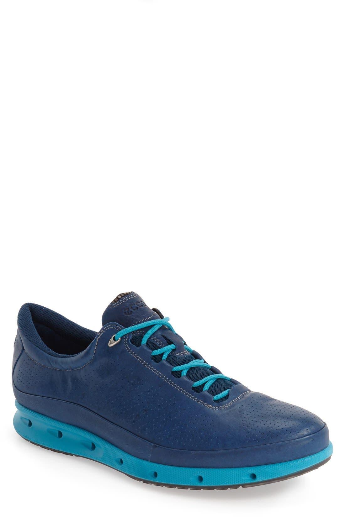 'Cool Gore-Tex<sup>®</sup>' Sneaker,                             Main thumbnail 1, color,                             Poseidon Blue Leather
