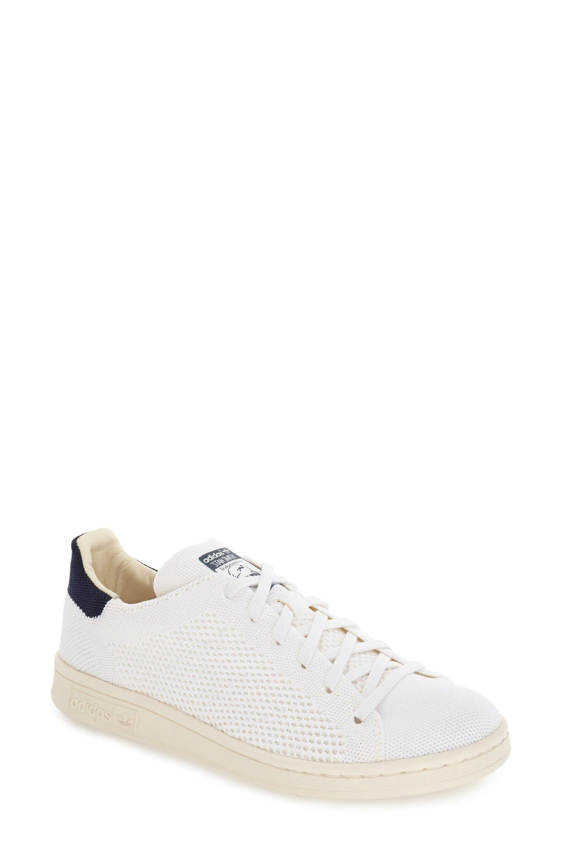 Alternate Image 1 Selected - adidas 'Stan Smith' Primeknit Woven Sneaker (Women)
