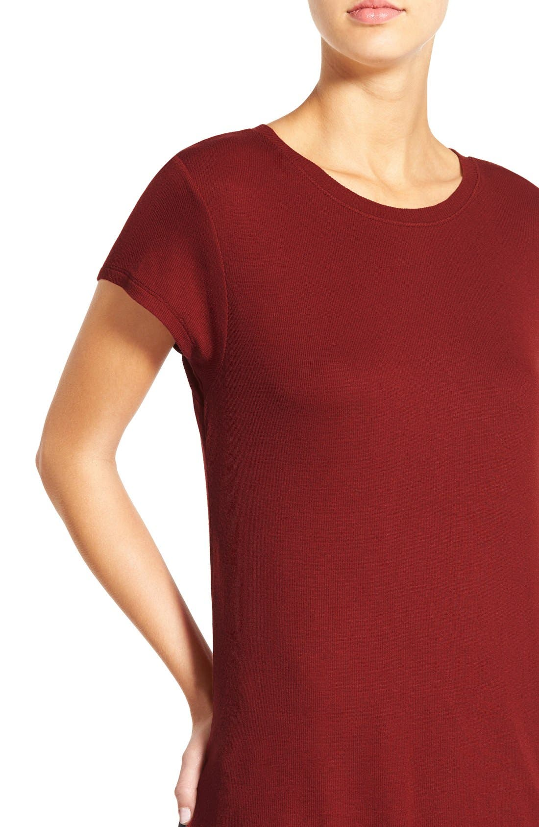 Alternate Image 4  - BP. High/Low Stretch Knit Tee