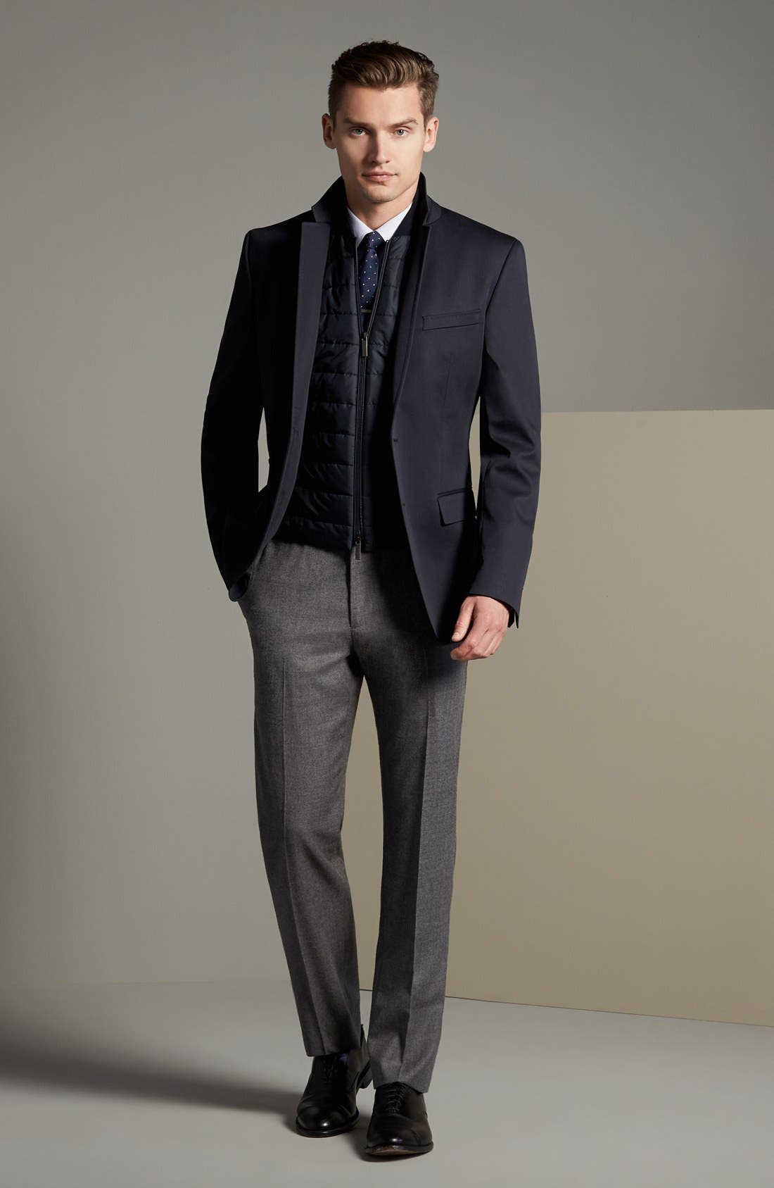 Alternate Image 6  - BOSS 'Hadwart' Trim Fit Cotton Blend Blazer