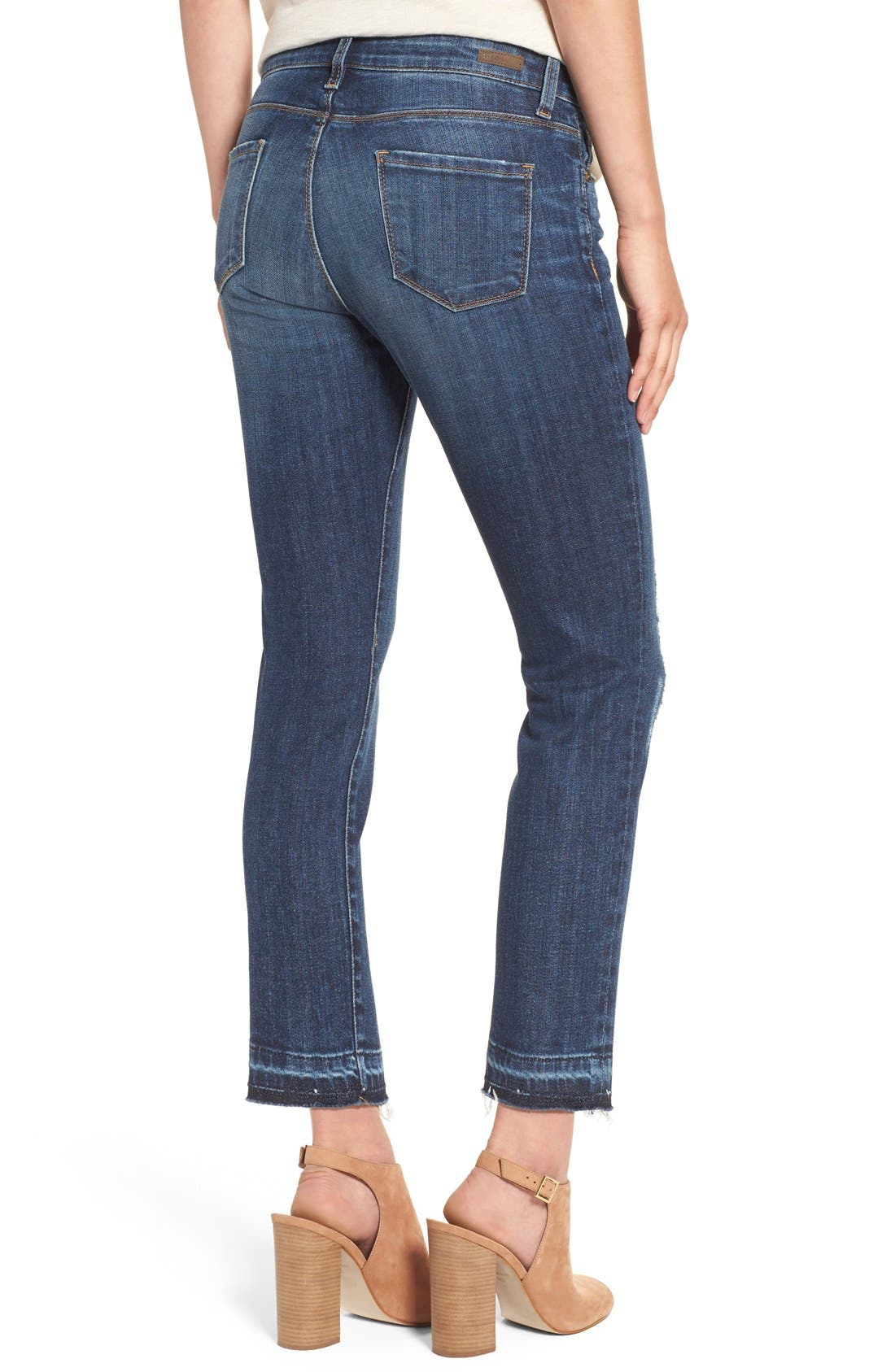 Alternate Image 3  - KUT from the Kloth 'Reese' Distressed Stretch Straight Leg Ankle Jeans (Capability) (Regular & Petite)