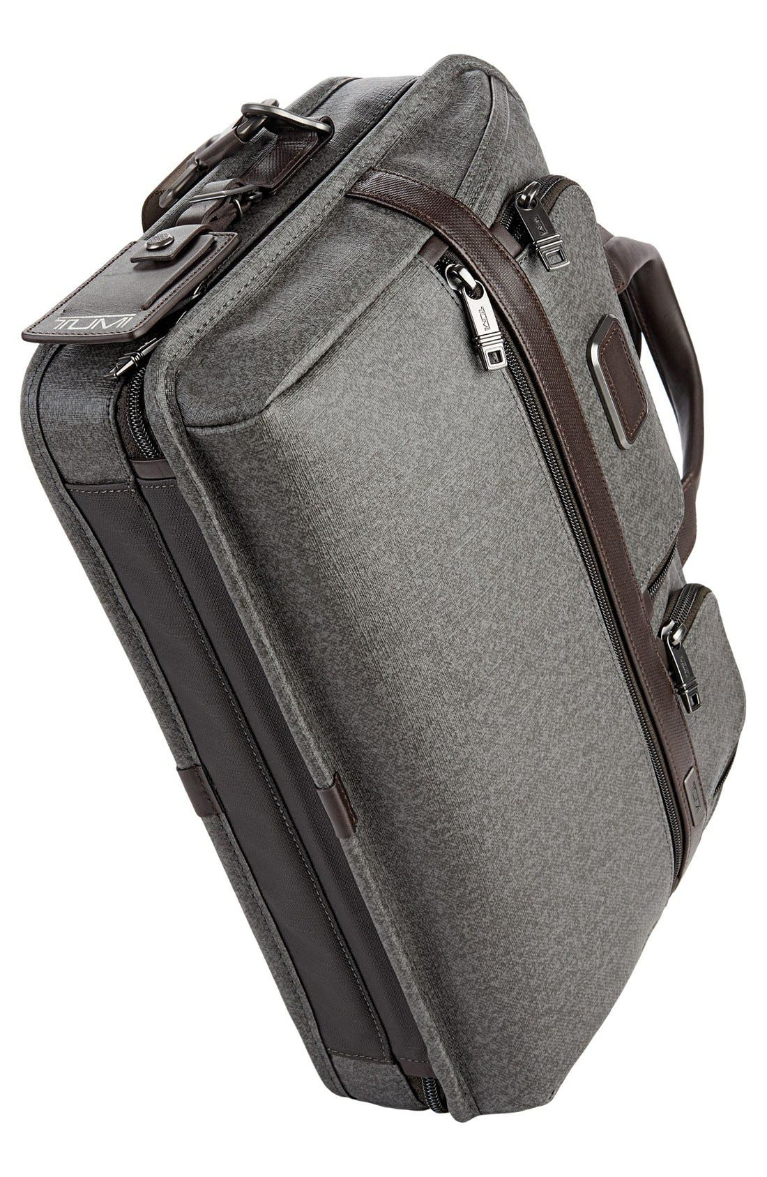 'Alpha 2' T-Pass<sup>®</sup> Coated Canvas Briefcase,                             Alternate thumbnail 6, color,                             Earl Grey