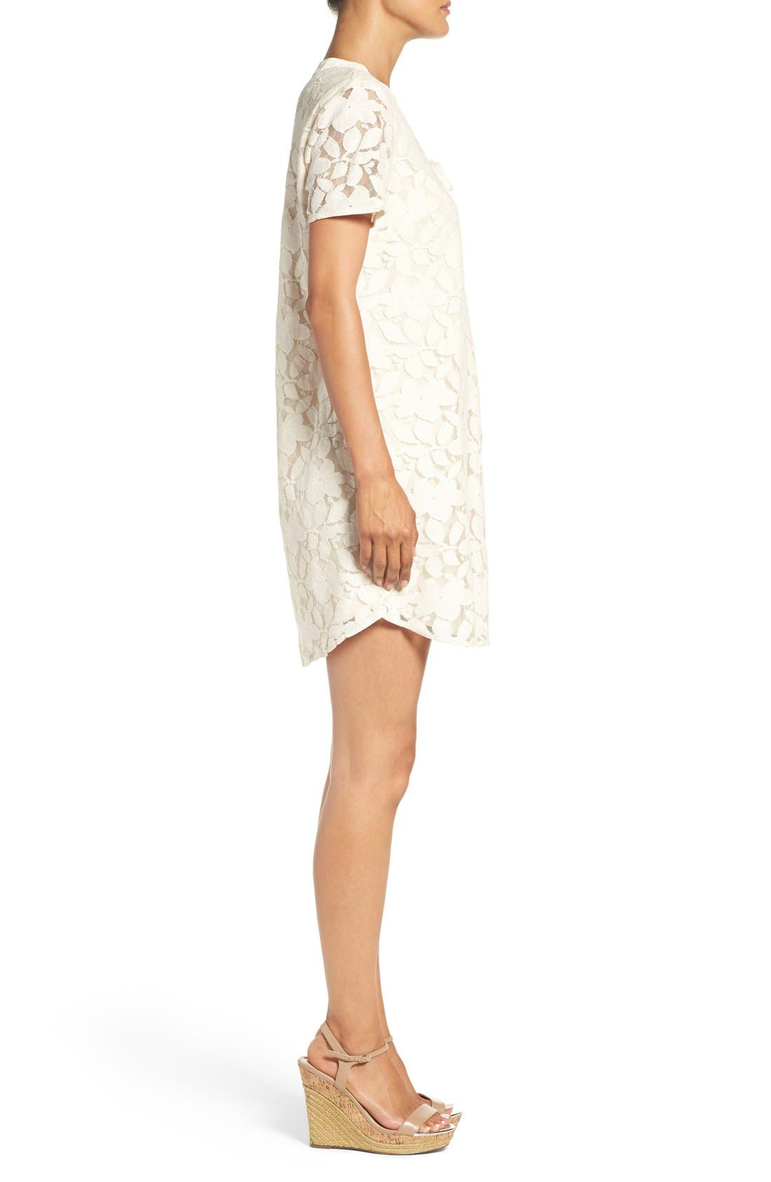 Alternate Image 3  - ECI Floral Lace Shift Dress