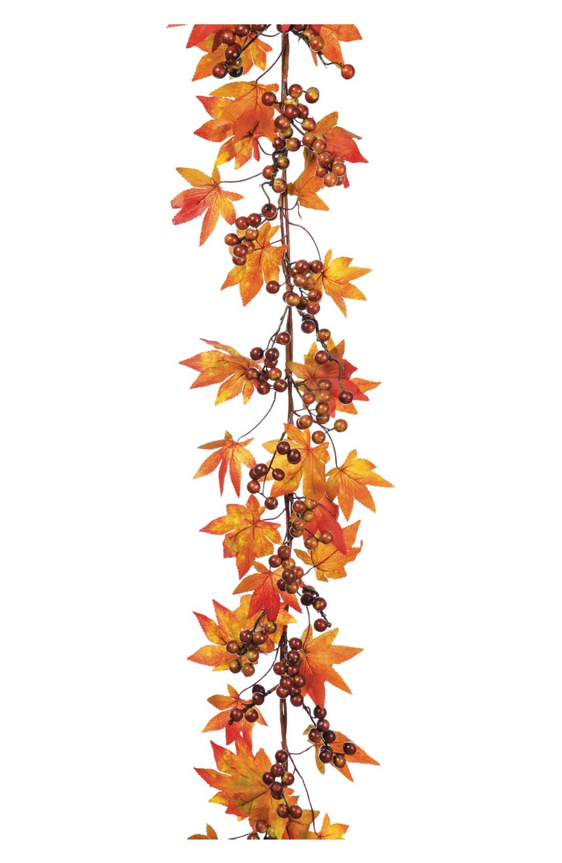 Maple Leaf & Berry Garland,                         Main,                         color, Orange/ Brown