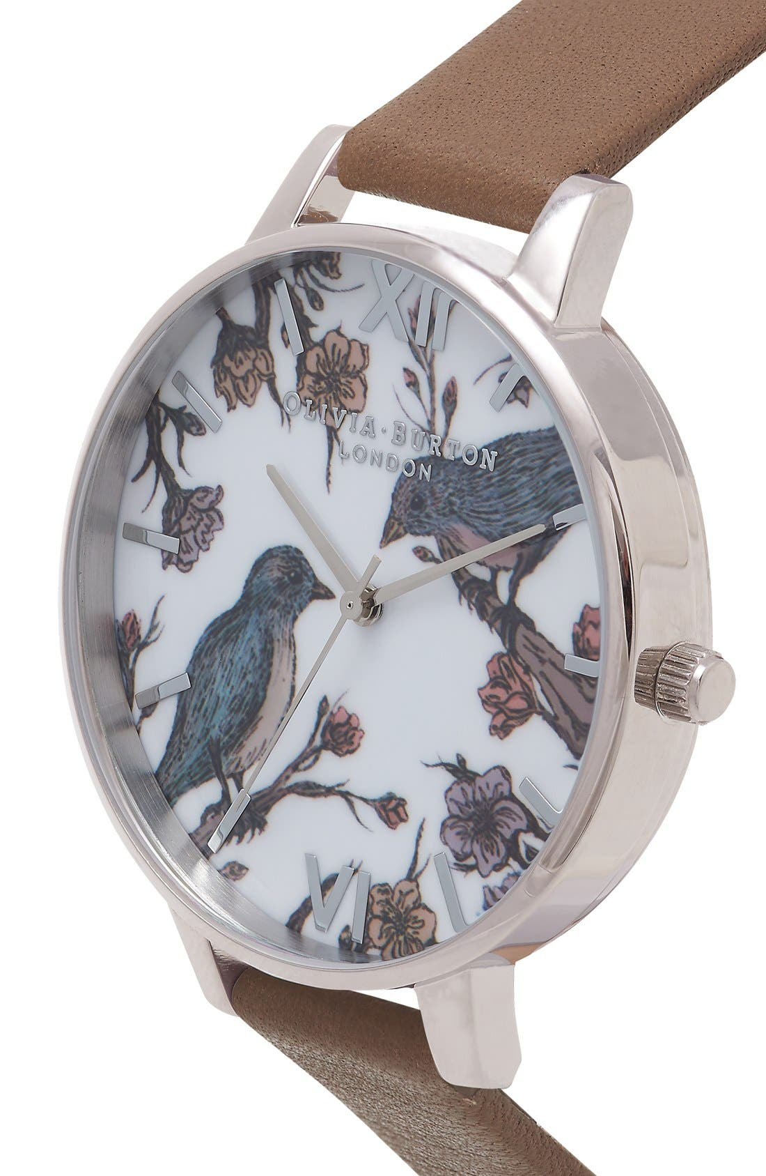 Alternate Image 3  - Olivia Burton 'Animal Motif' Leather Strap Watch, 38mm