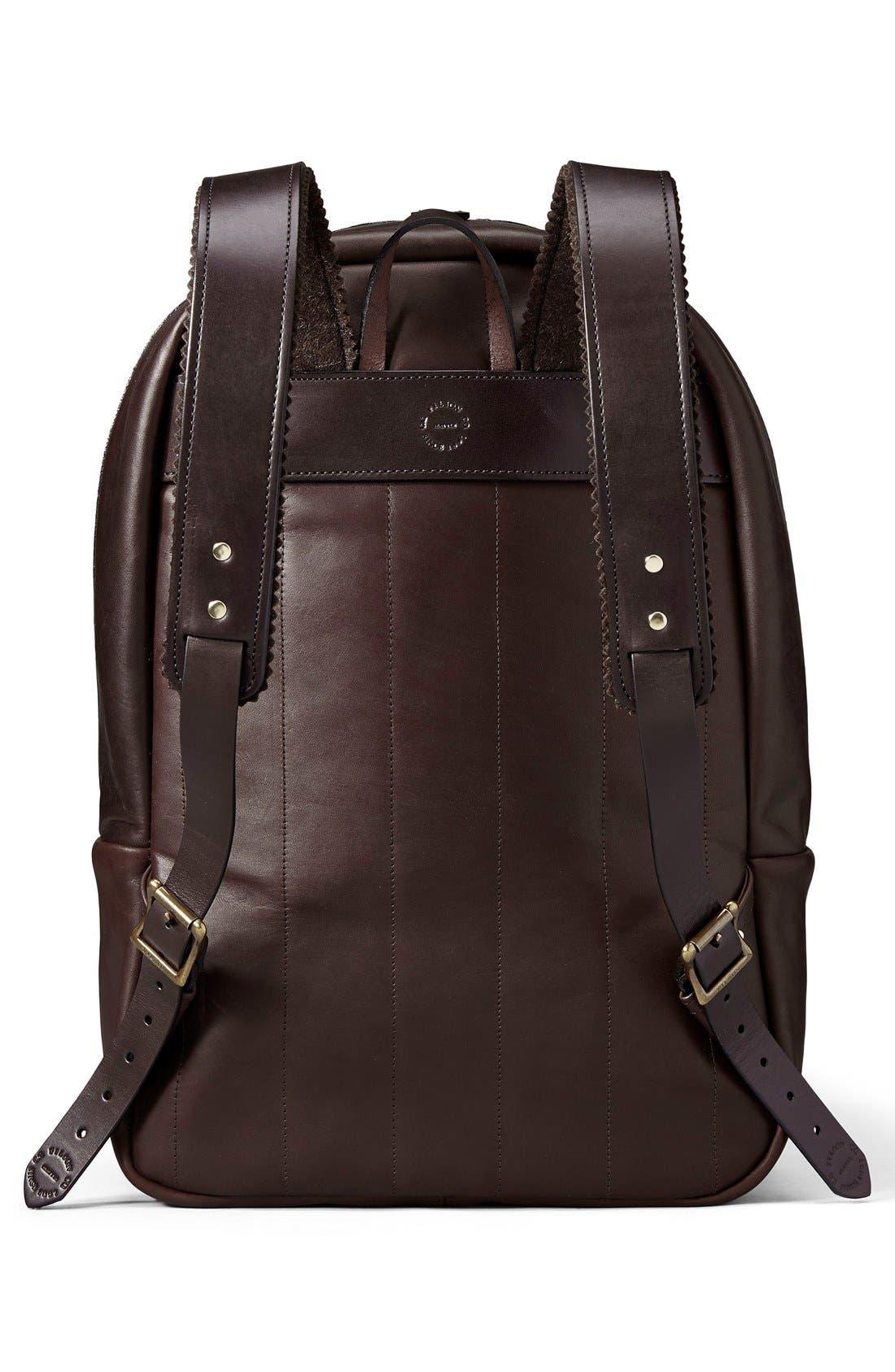 Weatherproof Leather Backpack,                             Alternate thumbnail 2, color,                             Sierra Brown