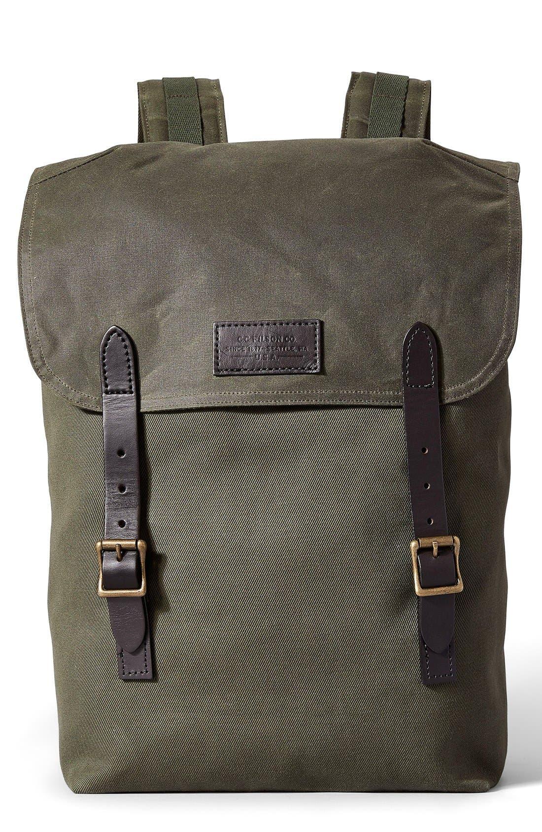 Main Image - Filson 'Ranger' Canvas Backpack