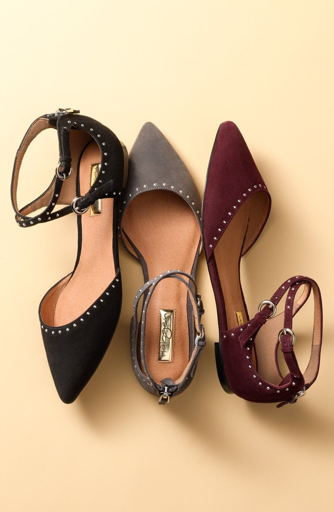 'Bristal' Ankle Strap Pointy Toe Flat,                             Alternate thumbnail 5, color,
