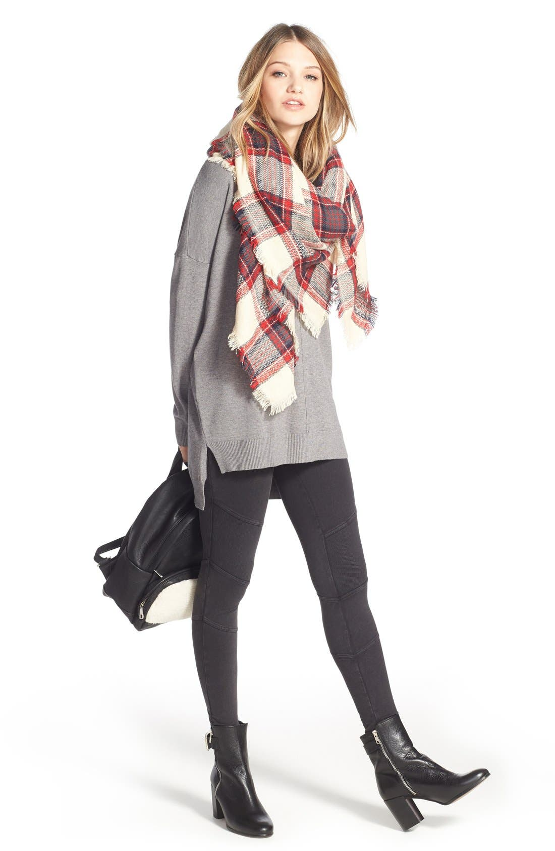 Alternate Image 5  - BP. Plaid Square Scarf