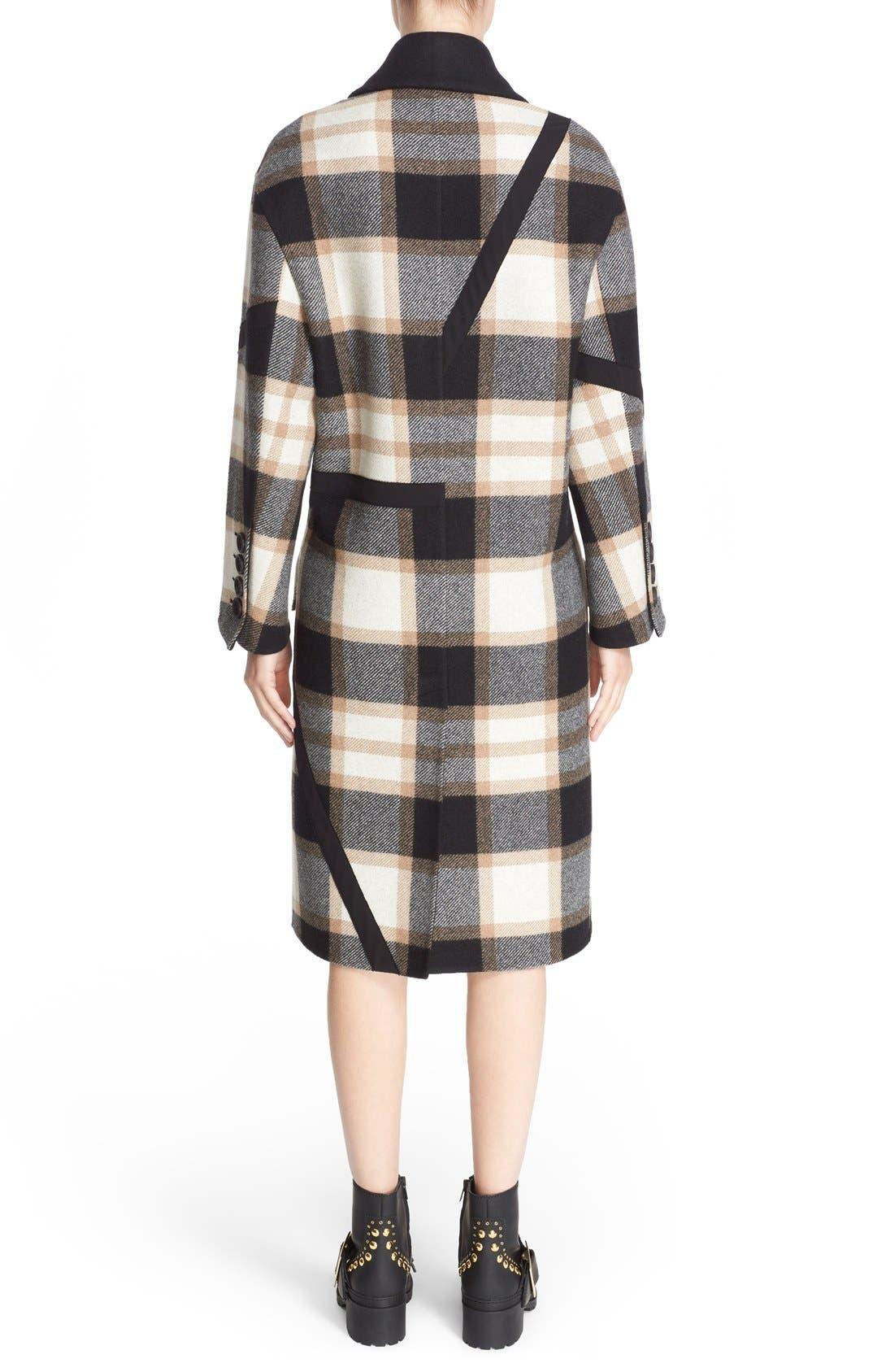 Alternate Image 2  - Burberry Tartan Plaid Wool Coat