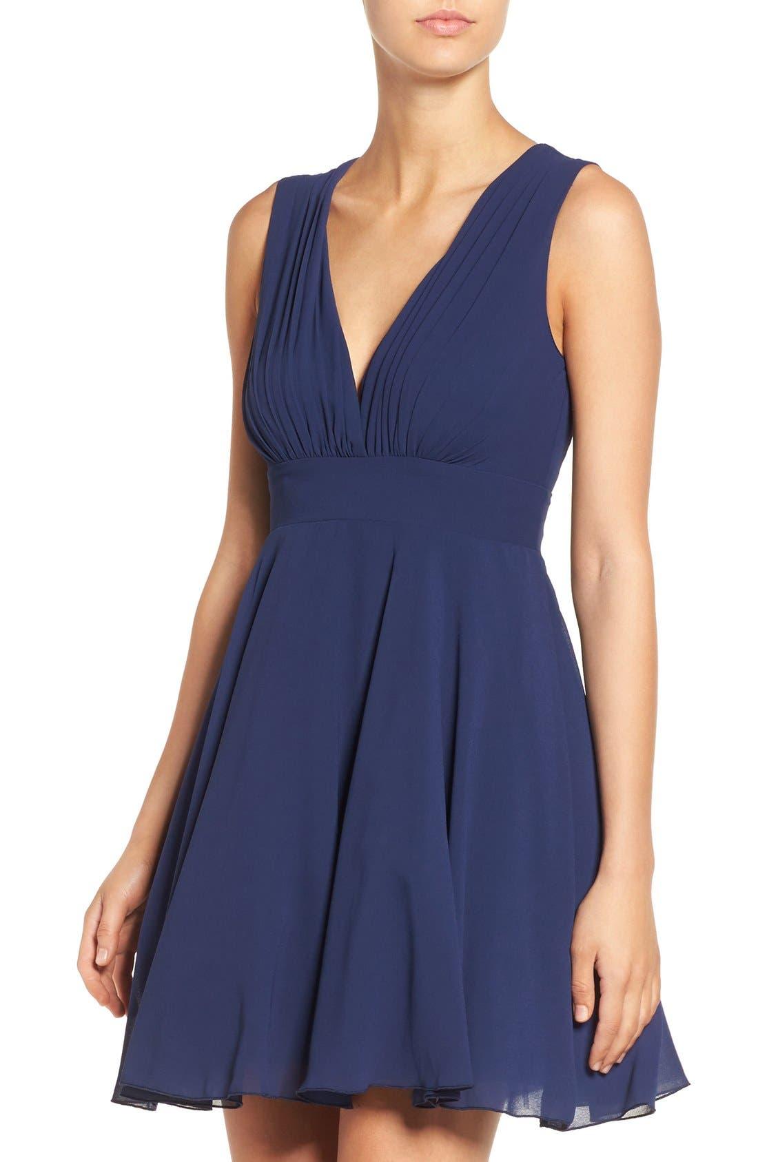 Alternate Image 4  - TFNC V-Neck Fit & Flare Dress