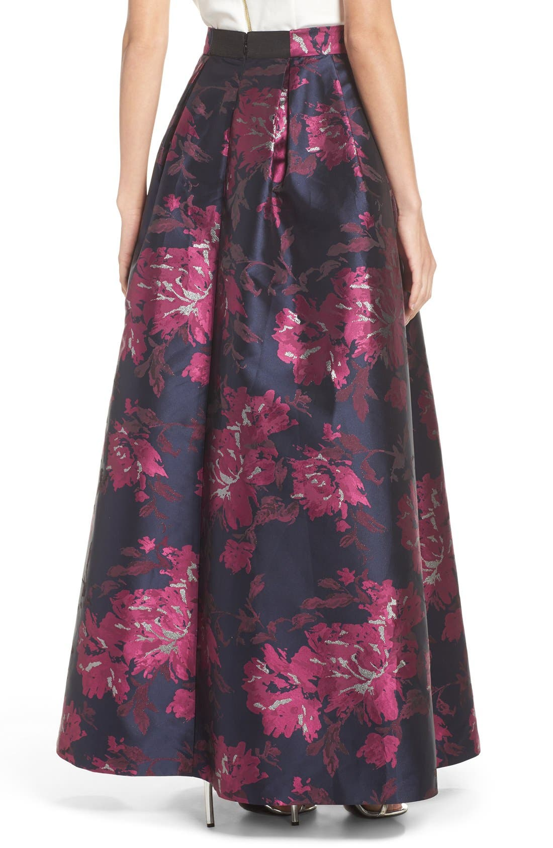 Alternate Image 2  - Eliza J Metallic Jacquard Ball Skirt