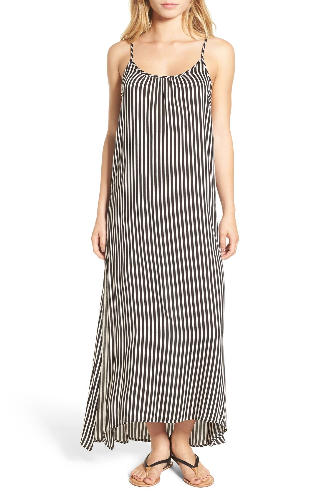 Main Image - Billabong 'Easy Does It' Stripe Maxi Dress
