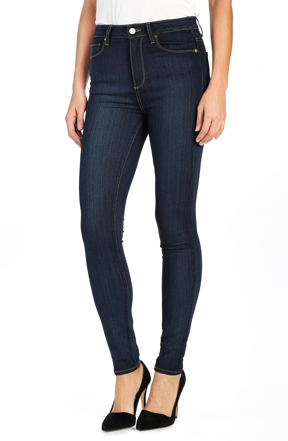 Alternate Image 1 Selected - PAIGE Transcend - Margot High Waist Ultra Skinny Jeans (La Rue)