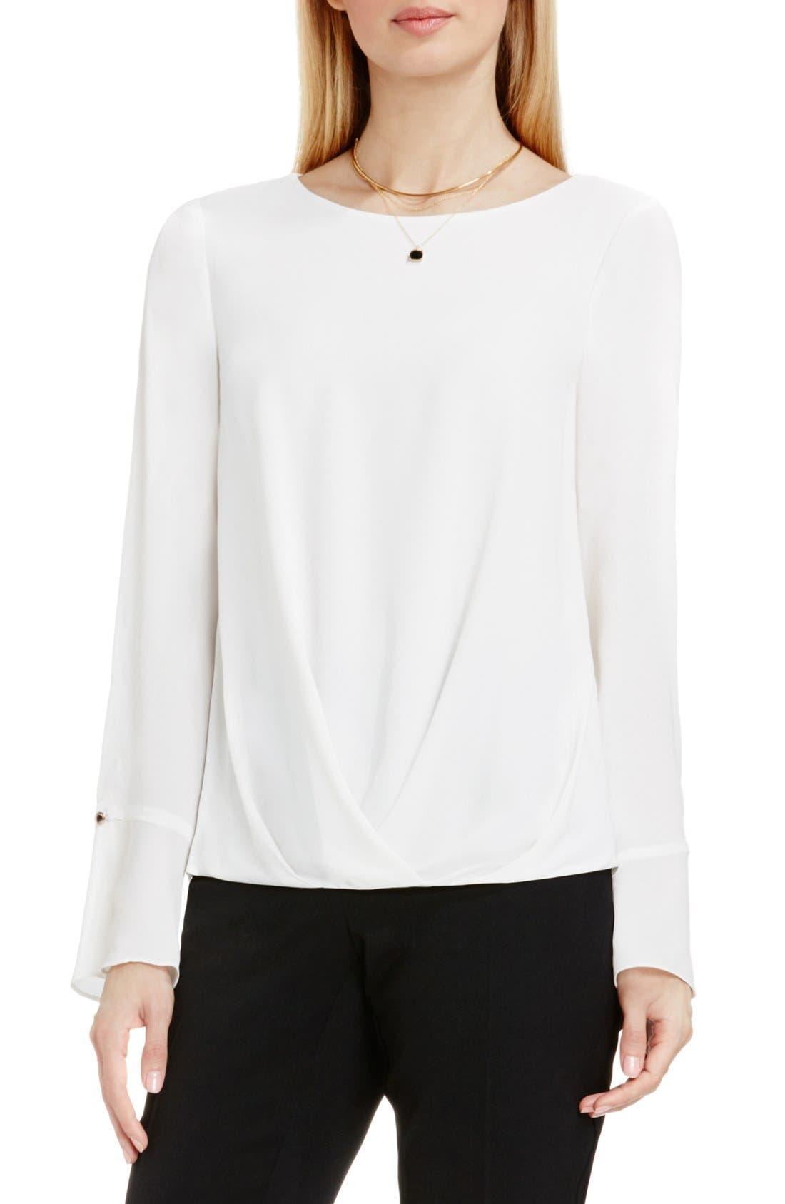 Main Image - Vince Camuto Bell Cuff Fold Front Blouse
