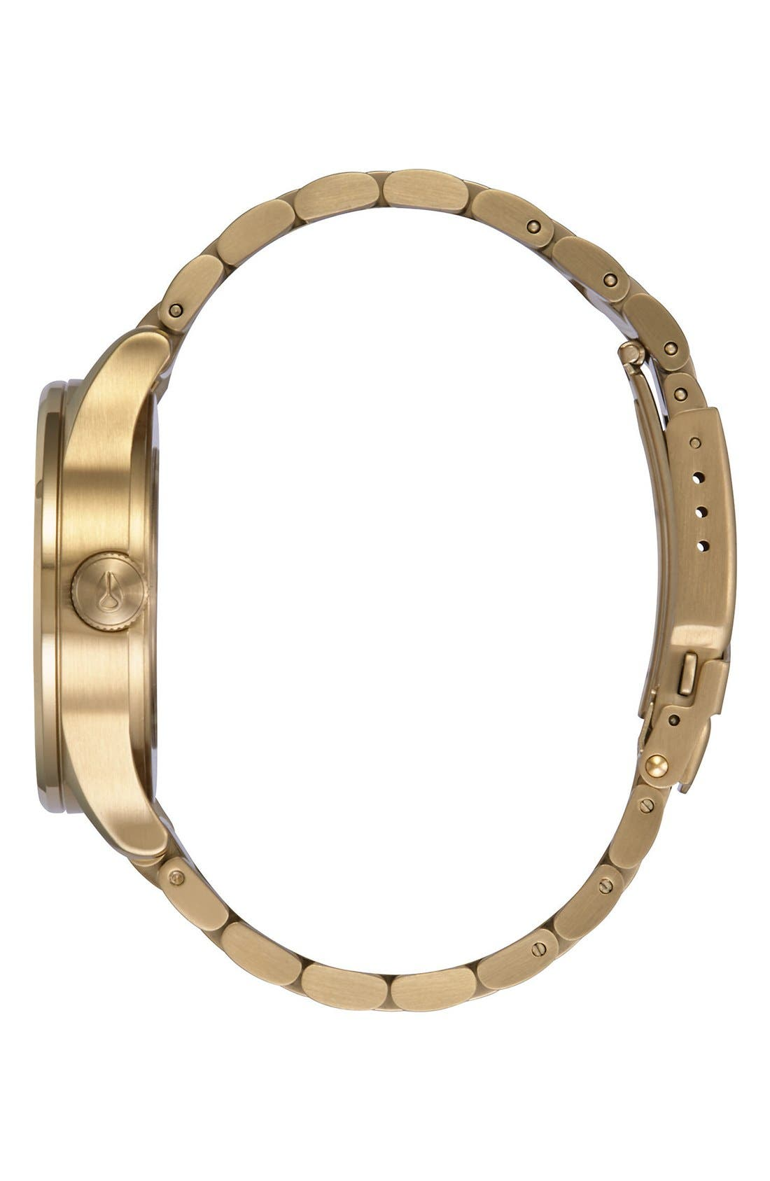 'Sentry' Bracelet Watch, 38mm,                             Alternate thumbnail 3, color,                             Gold/ Pink