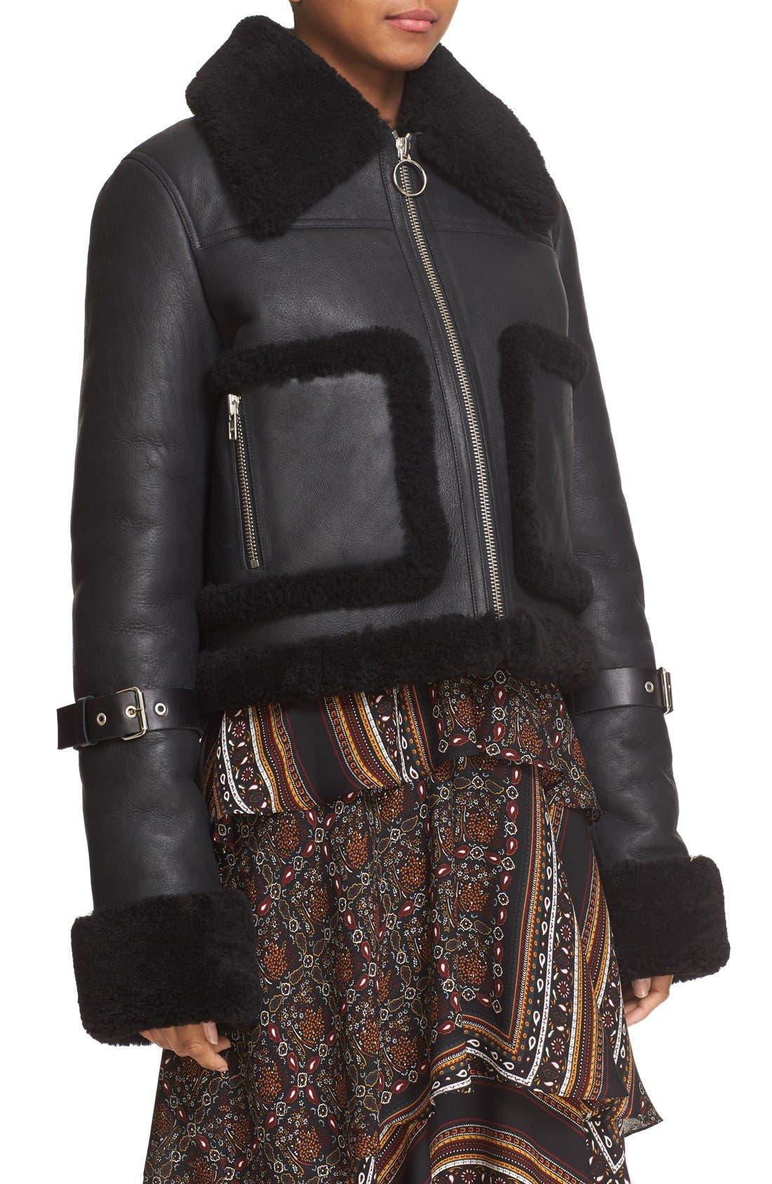 Alternate Image 4  - A.L.C. Genuine Shearling Jacket