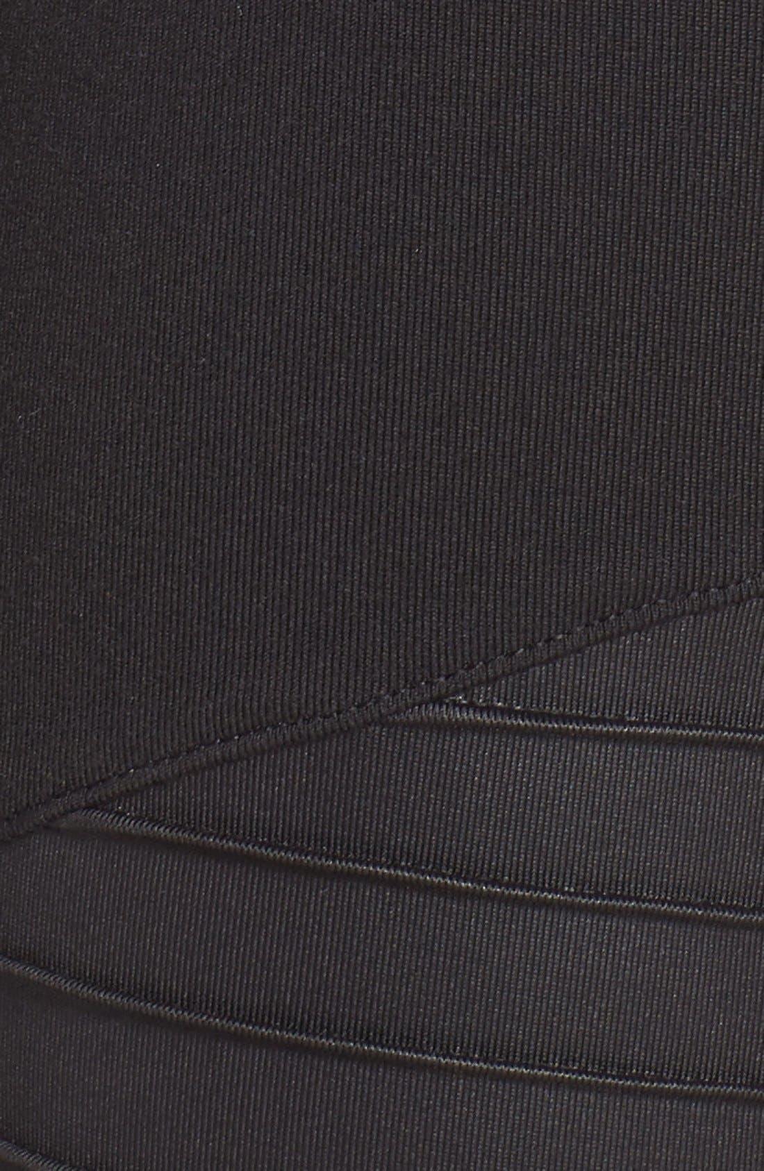 High Waist Moto Leggings,                             Alternate thumbnail 6, color,                             Black/ Black Glossy
