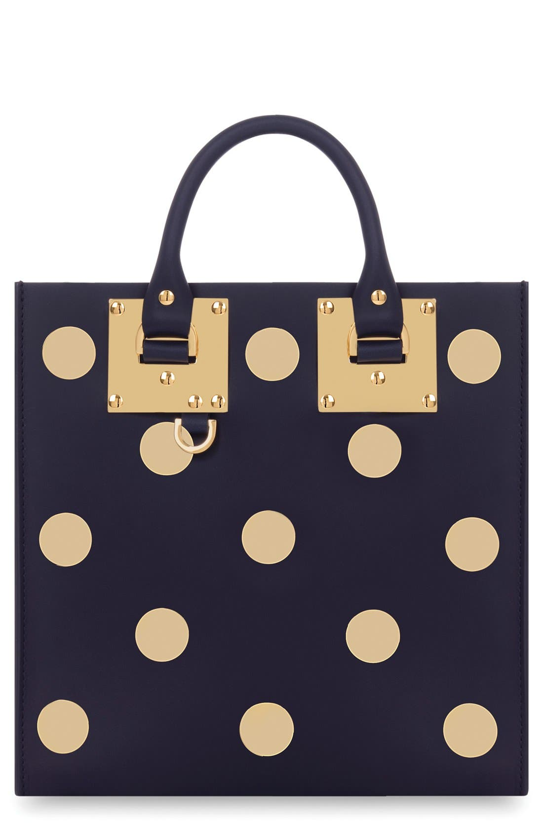 Alternate Image 1 Selected - Sophie Hulme 'Albion' Polka Dot Studded Leather Crossbody Bag