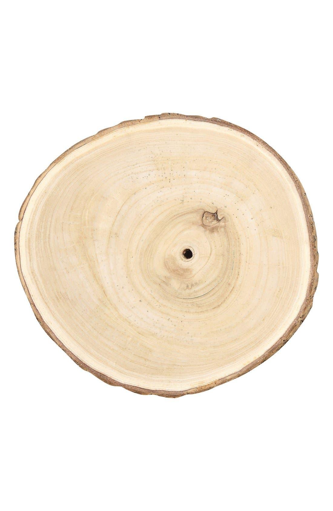 Round Wood Slice,                         Main,                         color, Brown