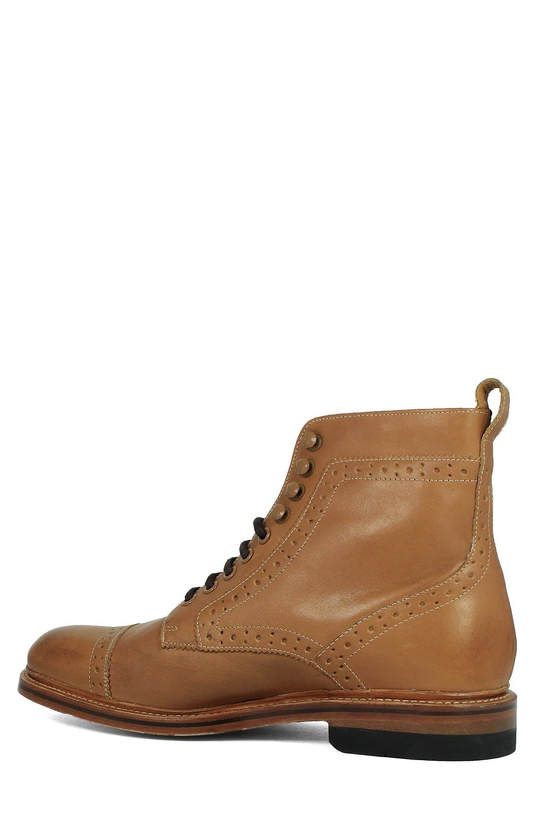 Madison II Cap Toe Boot,                             Alternate thumbnail 2, color,                             Tan Smooth