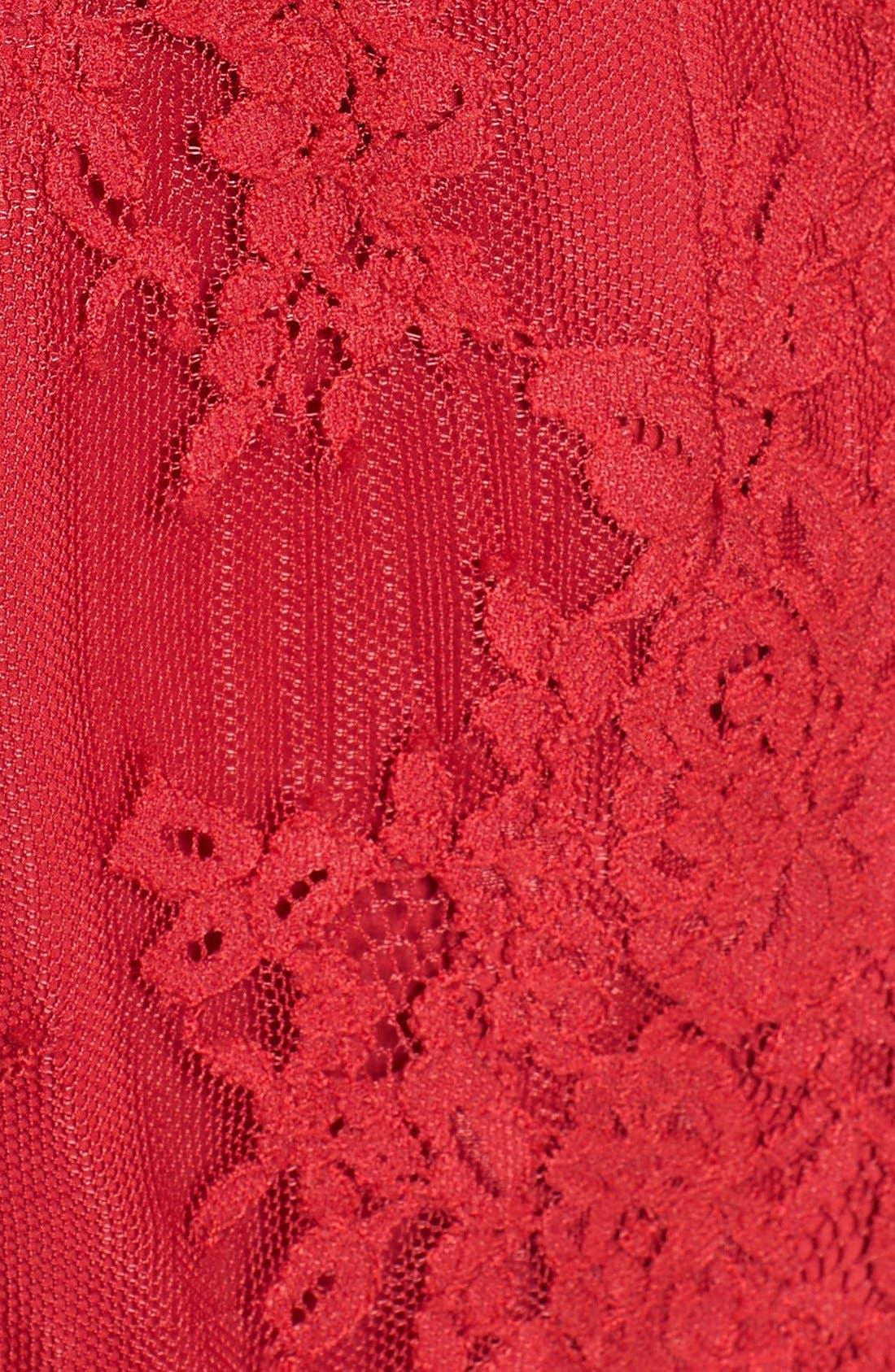 'Azealia' Lace Romper,                             Alternate thumbnail 6, color,                             Cherry