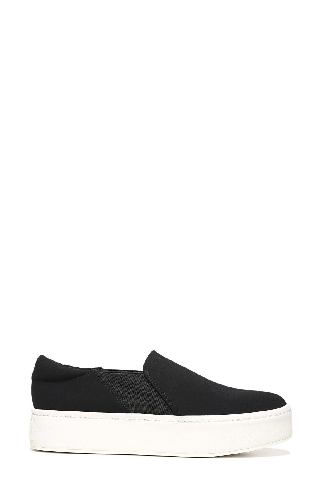 Warren Slip-On Sneaker,                             Alternate thumbnail 2, color,                             Black
