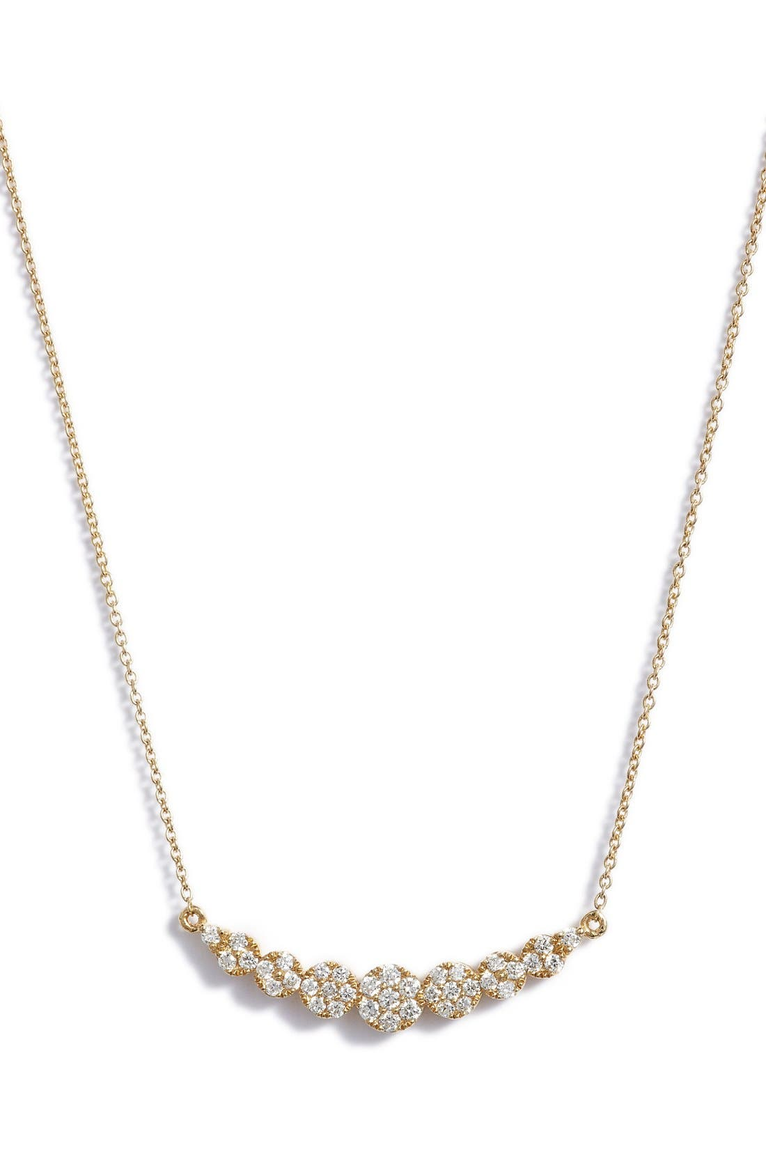 'Liora' Diamond Pendant Necklace,                             Main thumbnail 1, color,                             Yellow Gold