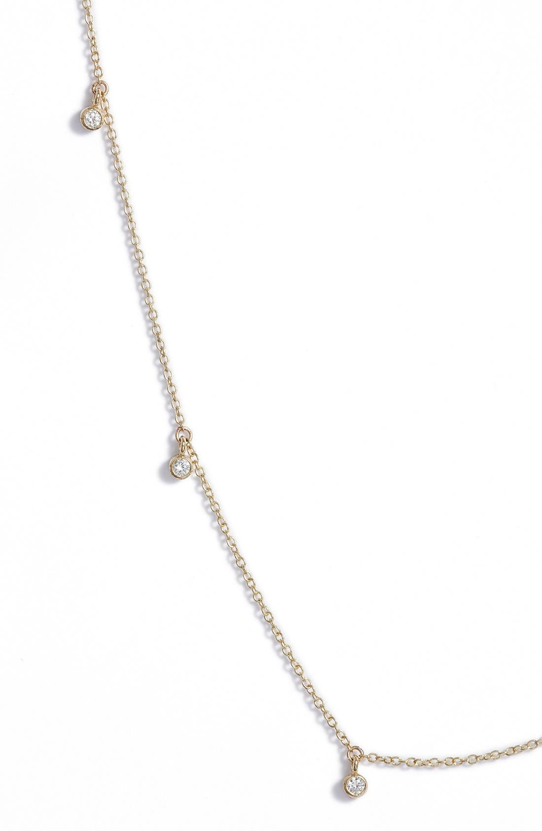 Diamond Strand Necklace,                             Alternate thumbnail 2, color,                             Yellow Gold