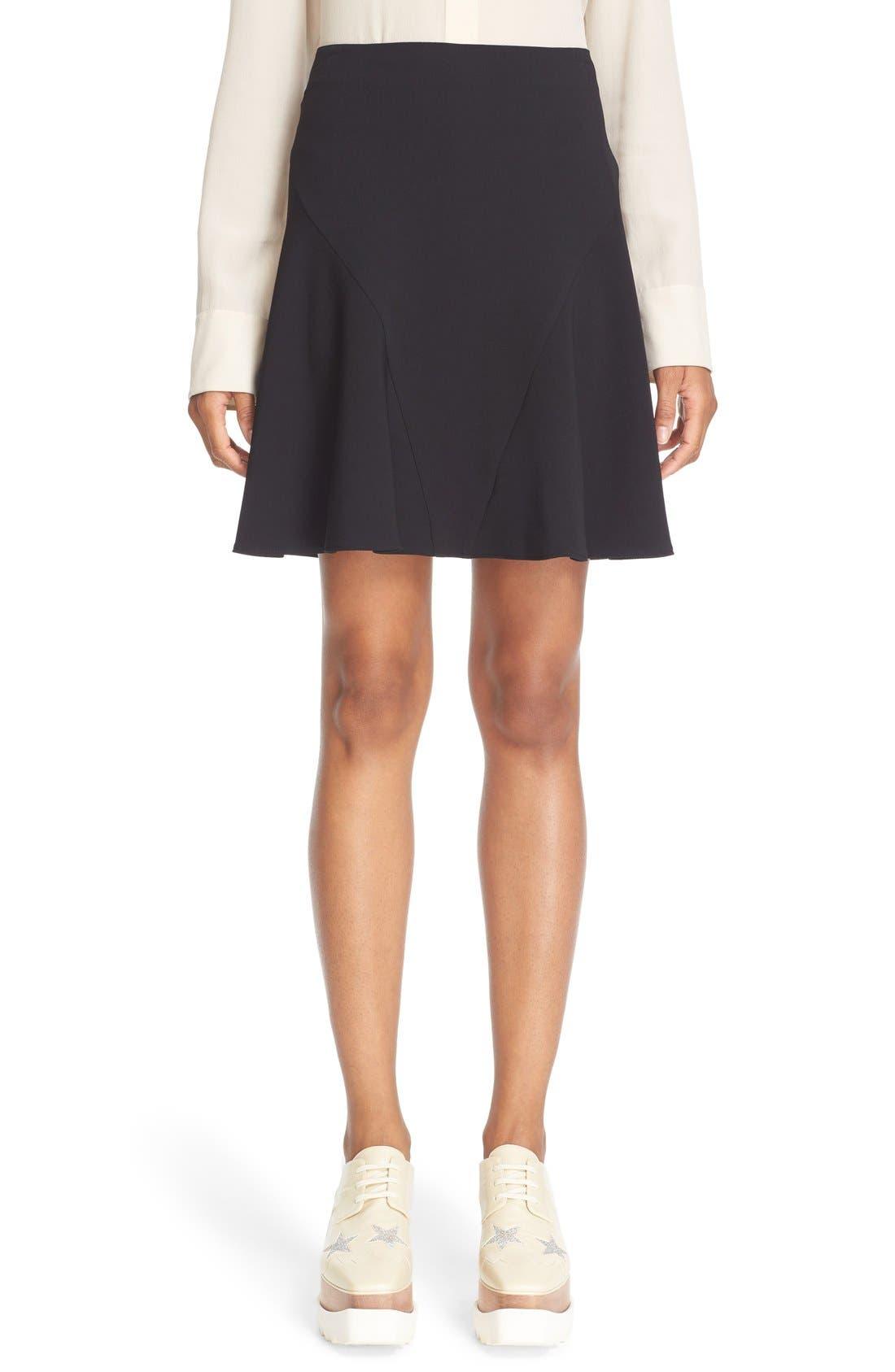 Alternate Image 1 Selected - Stella McCartney Stretch Cady Skater Skirt