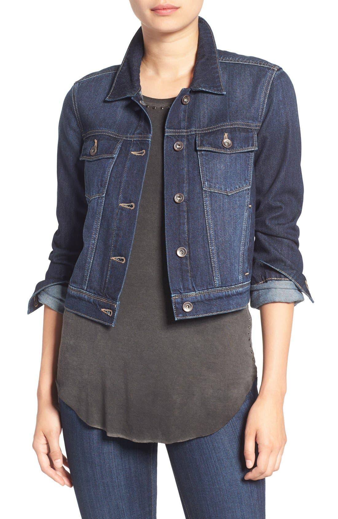 Alternate Image 1 Selected - PAIGE 'Vivienne' Denim Jacket (Arwen)