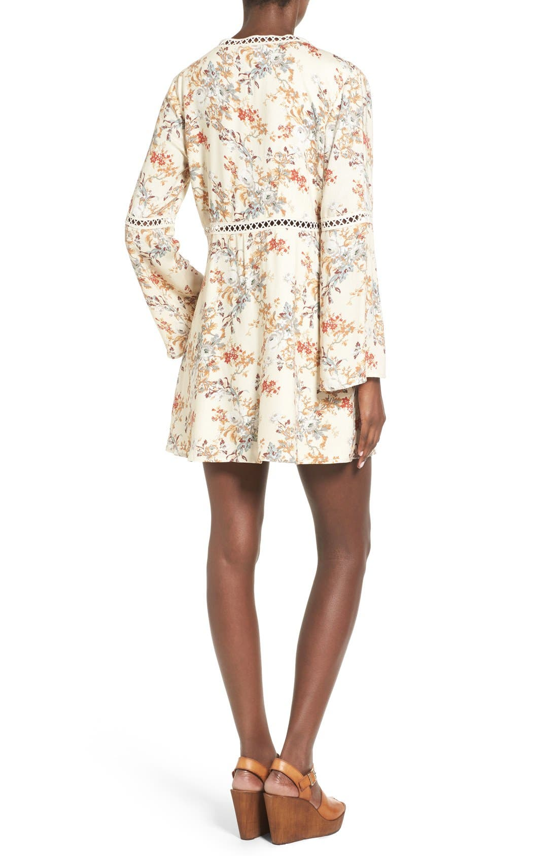 Alternate Image 2  - WAYF 'Pembrook' Bell Sleeve Babydoll Dress