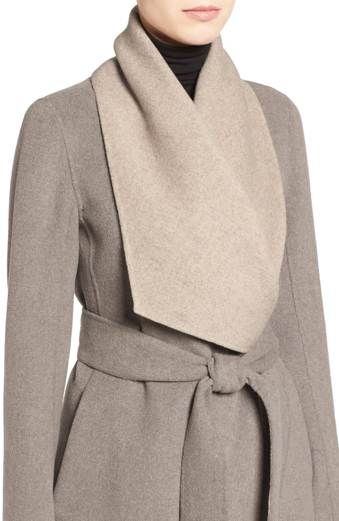 Alternate Image 4  - Diane von Furstenberg Reversible Double Face Wrap Coat