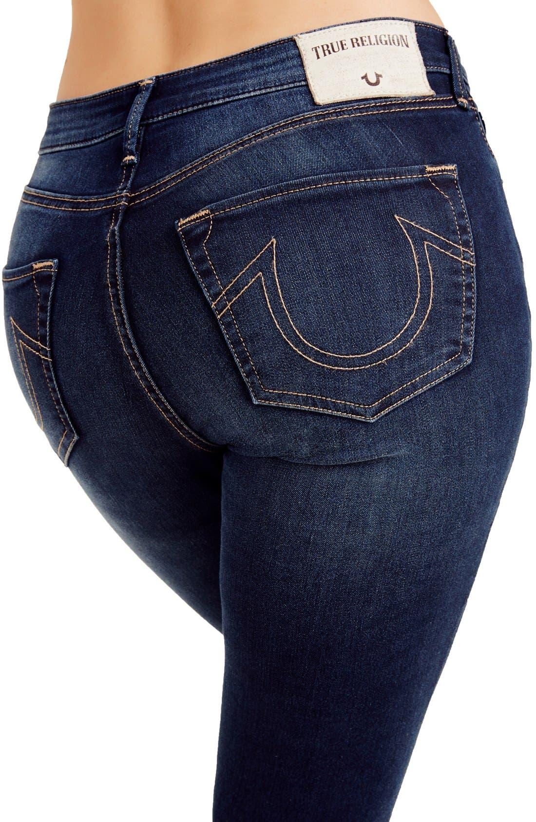 Alternate Image 3  - True Religion Jeans Jennie Curvy Skinny Jeans