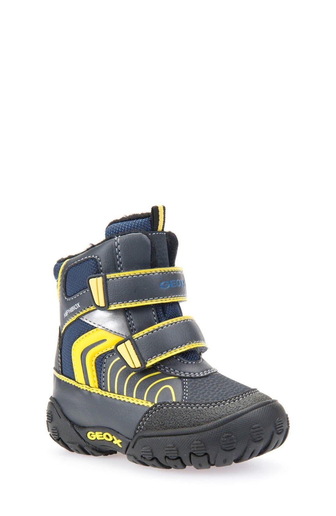 Geox 'Gulp' Waterproof Sneaker Boot (Walker & Toddler)