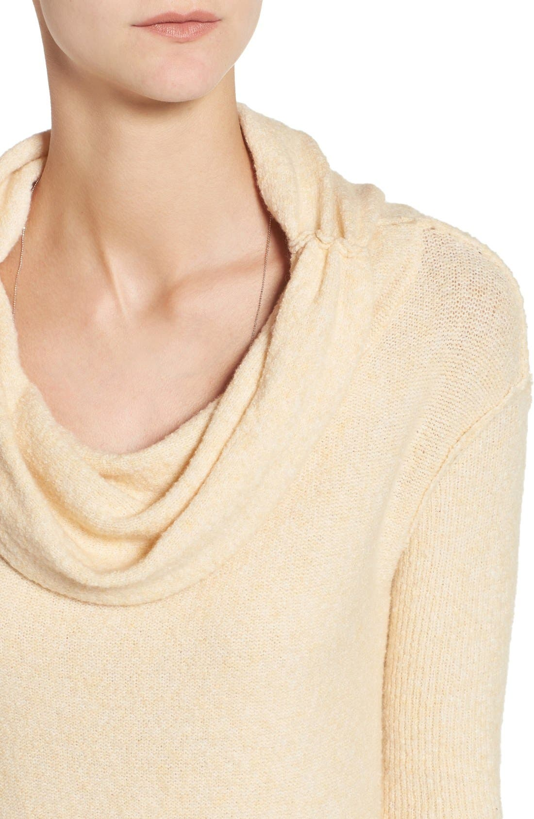'Strawberry Fields' Off the Shoulder Sweater,                             Alternate thumbnail 5, color,                             Cream