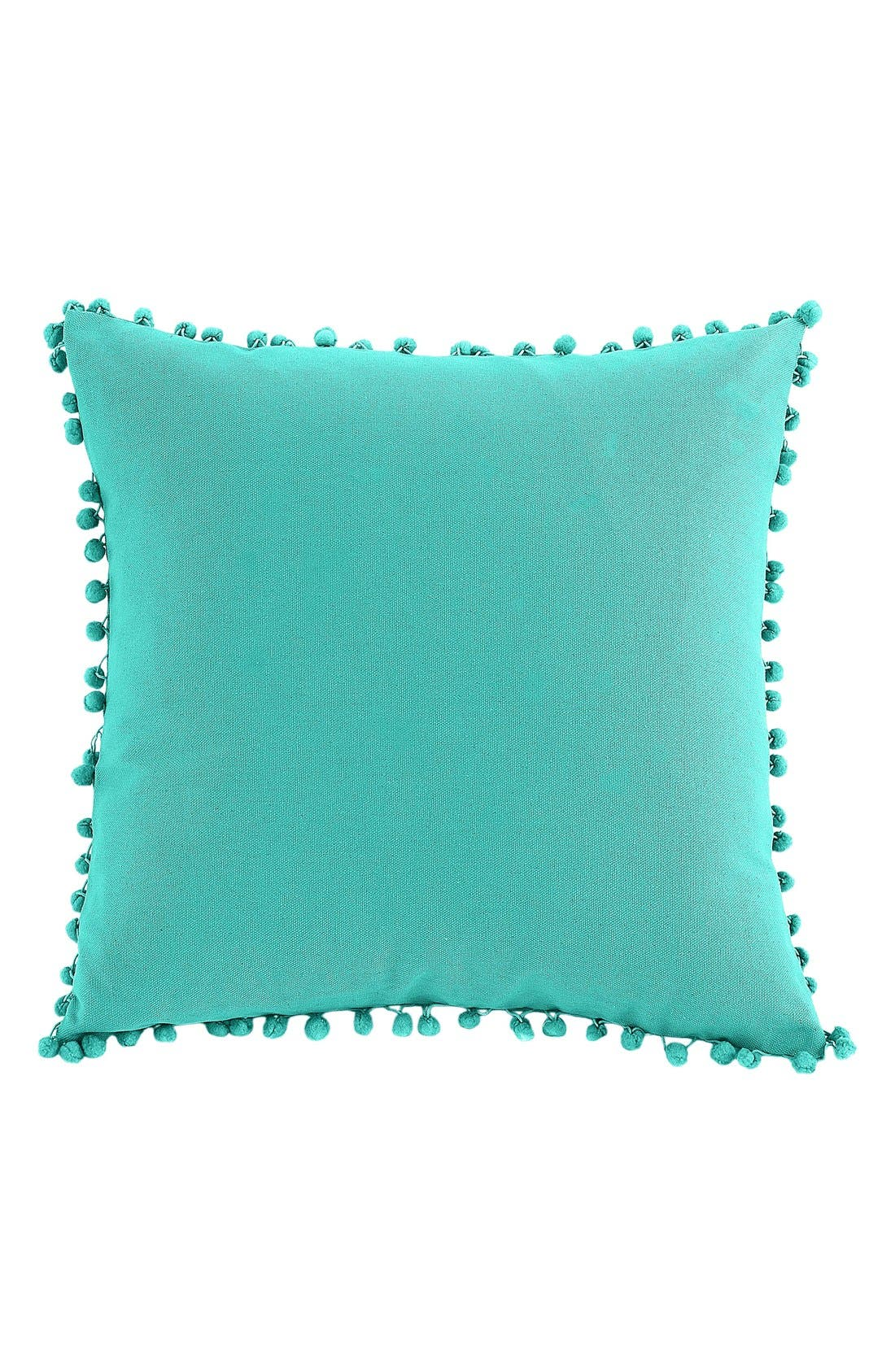 'Elodie Pom' Pillow,                             Main thumbnail 1, color,                             Bright Teal