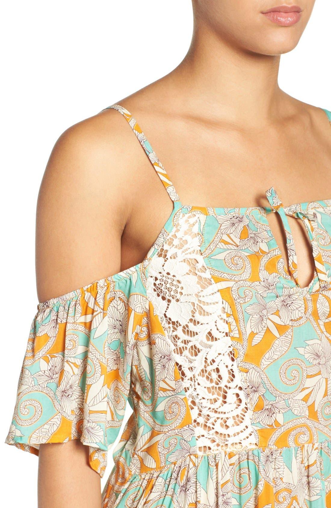 Alternate Image 4  - Maaji 'Botanic Sandy' Cold-Shoulder Cover-Up Dress