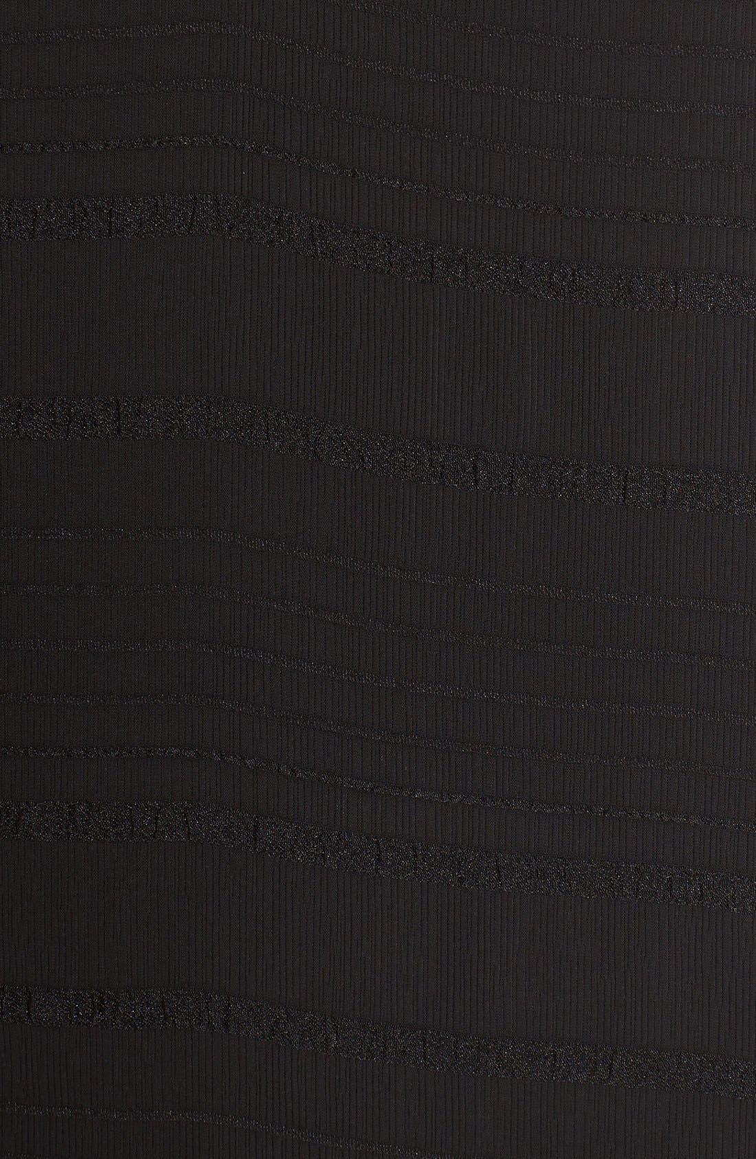 Lace Trim Slipdress,                             Alternate thumbnail 5, color,                             Black