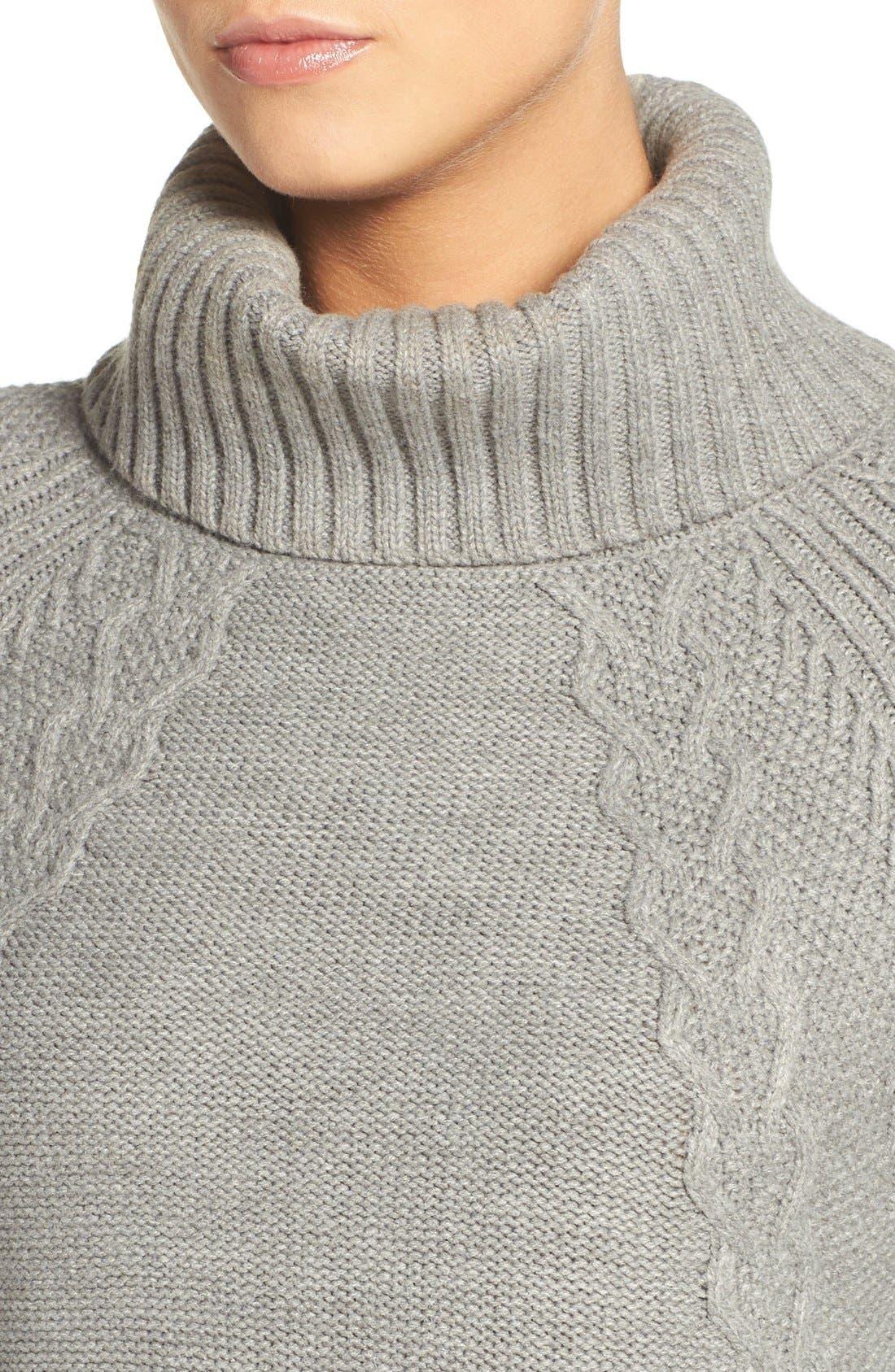 Alternate Image 5  - Eliza J Cable Knit Sweater Dress (Regular & Petite)