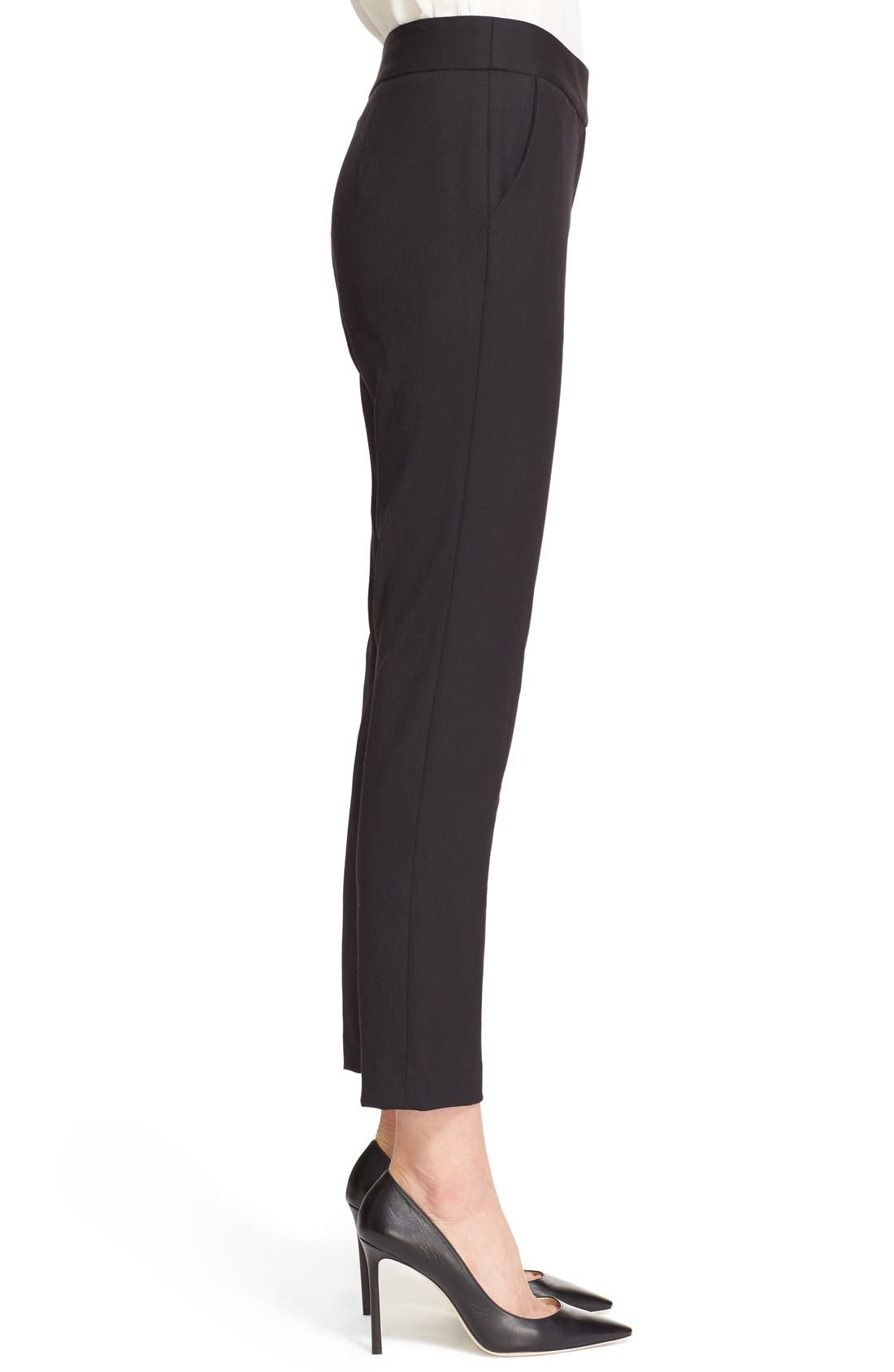 Alternate Image 3  - Milly Stretch Wool Skinny Ankle Pants