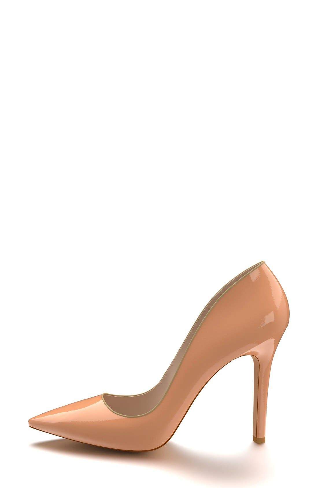 Pointy Toe Pump,                             Alternate thumbnail 4, color,                             Nude Patent