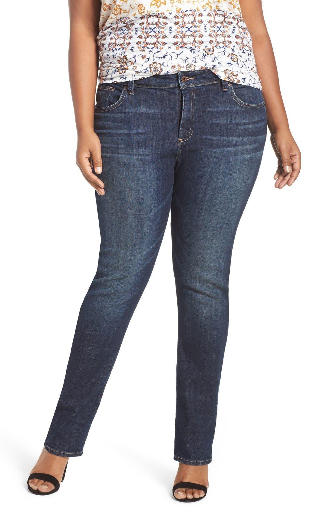 Main Image - Lucky Brand 'Reese' Ripped Boyfriend Jeans (Matira) (Plus Size)