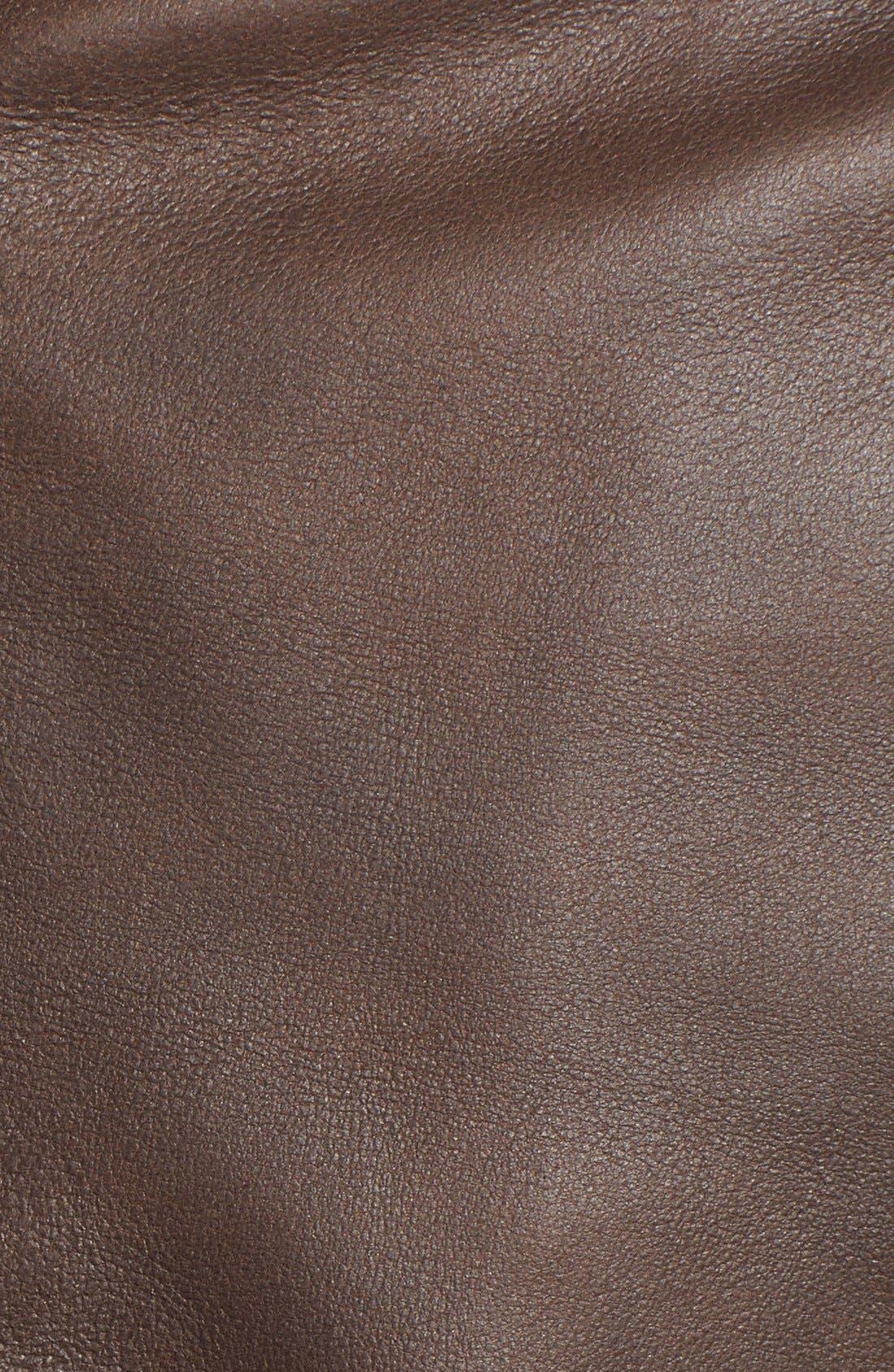 Alternate Image 5  - Missani Le Collezioni Leather Bomber Jacket