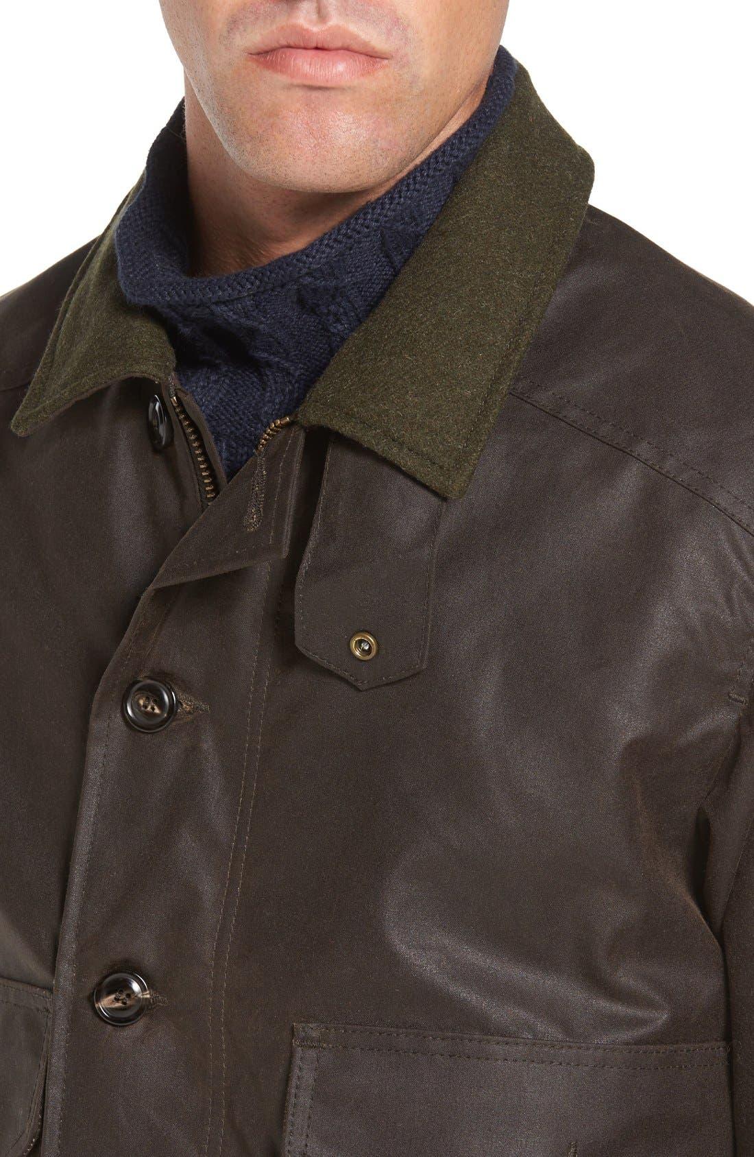 'Ranger' Water Repellent Shelter Cloth Bomber Jacket,                             Alternate thumbnail 4, color,                             Orca Grey