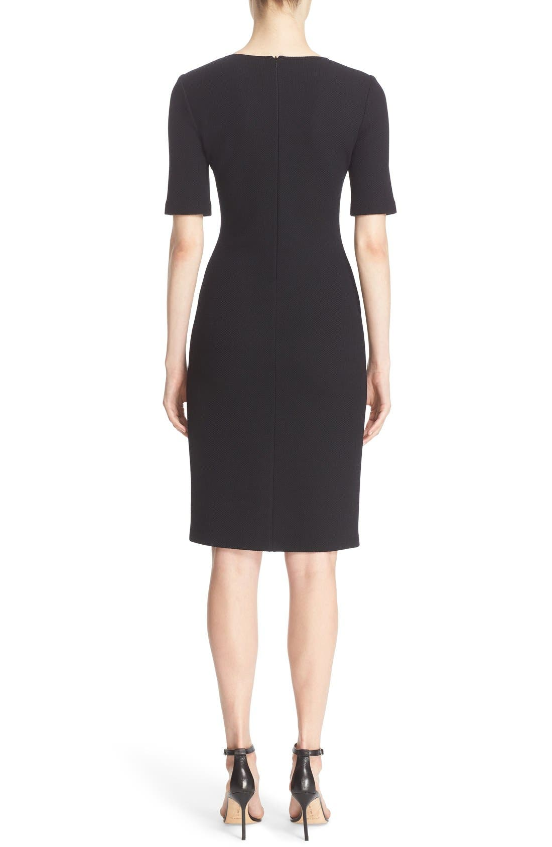 Alternate Image 2  - St. John Collection Milano Piqué Knit Scoop Neck Dress
